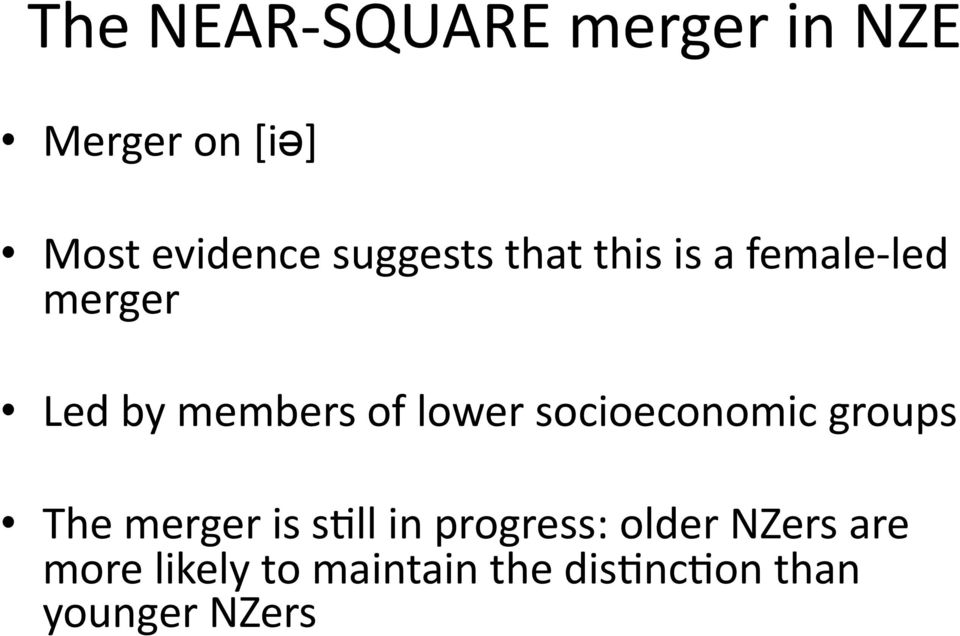 lower socioeconomic groups The merger is s.