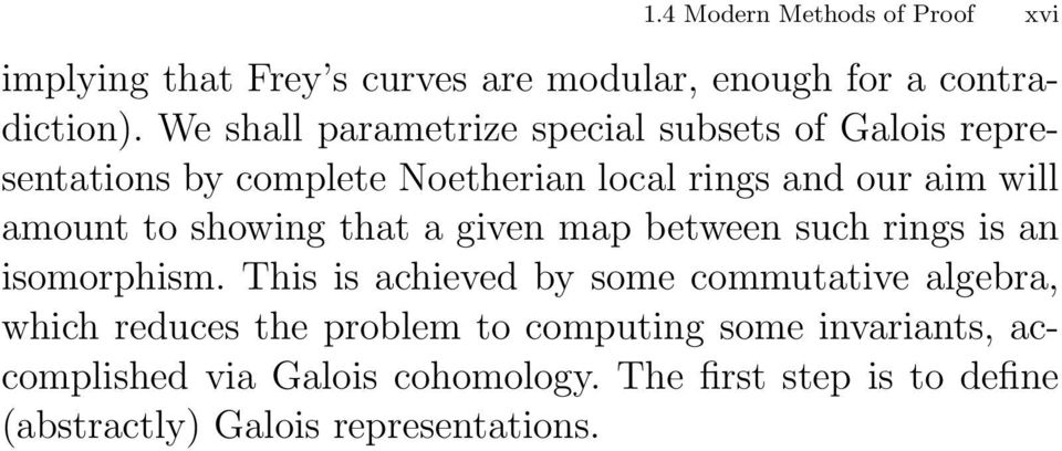 to showing that a given map between such rings is an isomorphism.