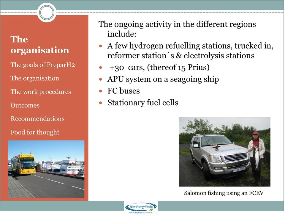 station s & electrolysis stations +30 cars, (thereof 15 Prius) APU