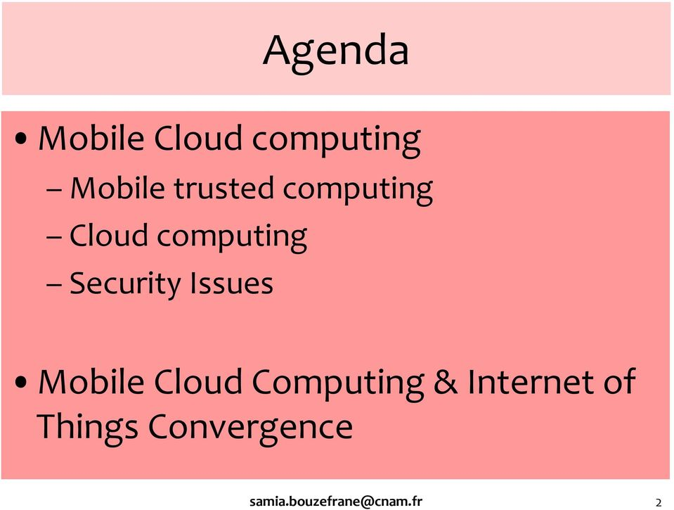 Issues Mobile Cloud Computing & Internet