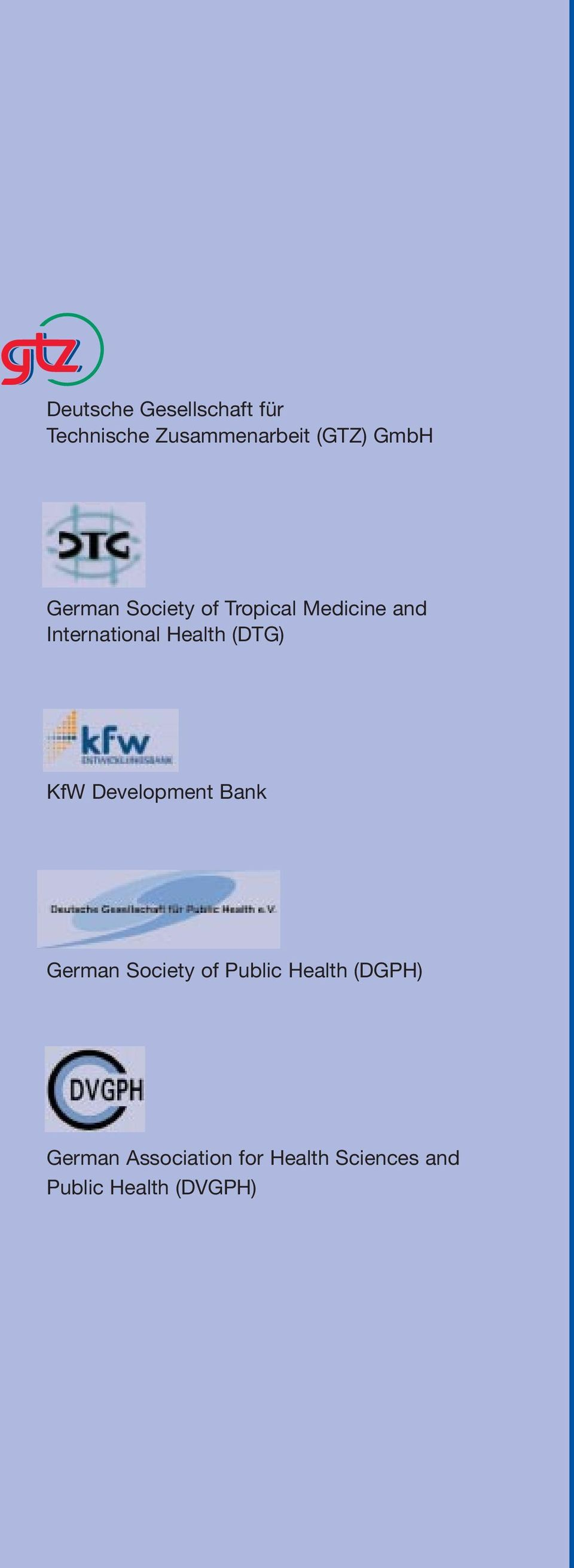 (DTG) KfW Development Bank German Society of Public Health