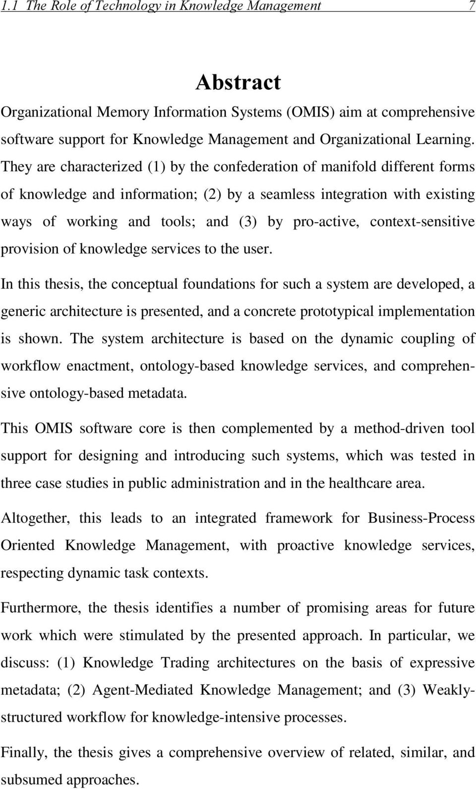 context-sensitive provision of knowledge services to the user.