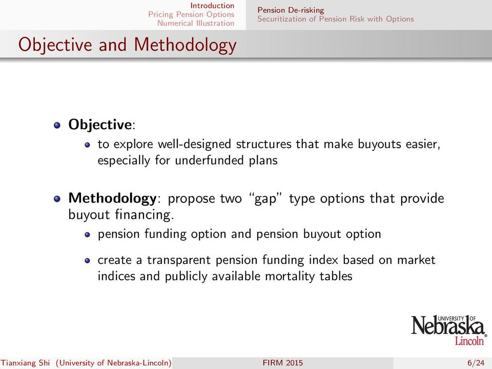 options that provide buyout financing.