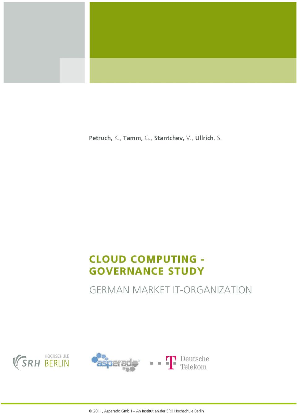 CLOUD COMPUTING - GOVERNANCE STUDY GERMAN