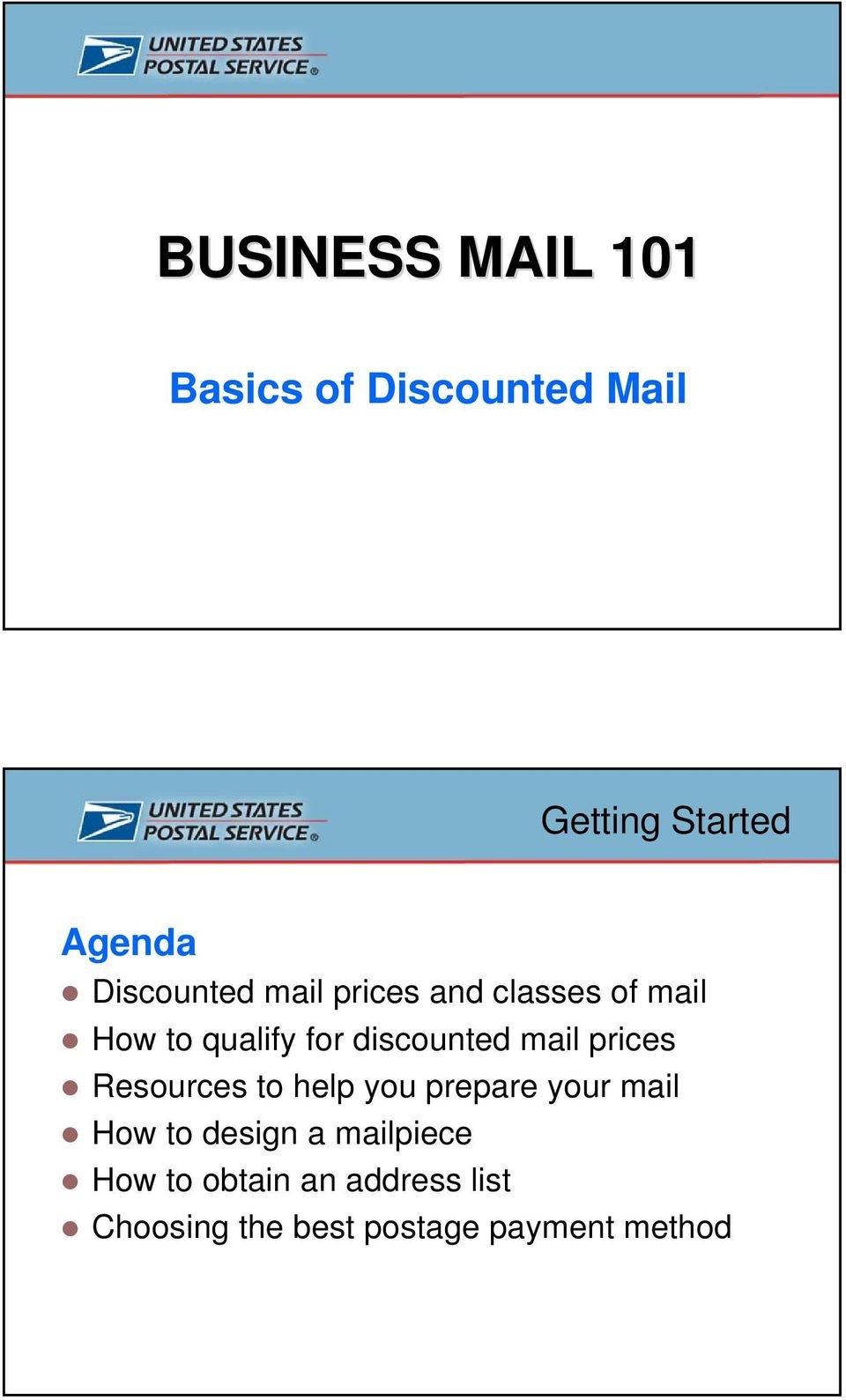 discounted mail prices Resources to help you prepare your mail How to
