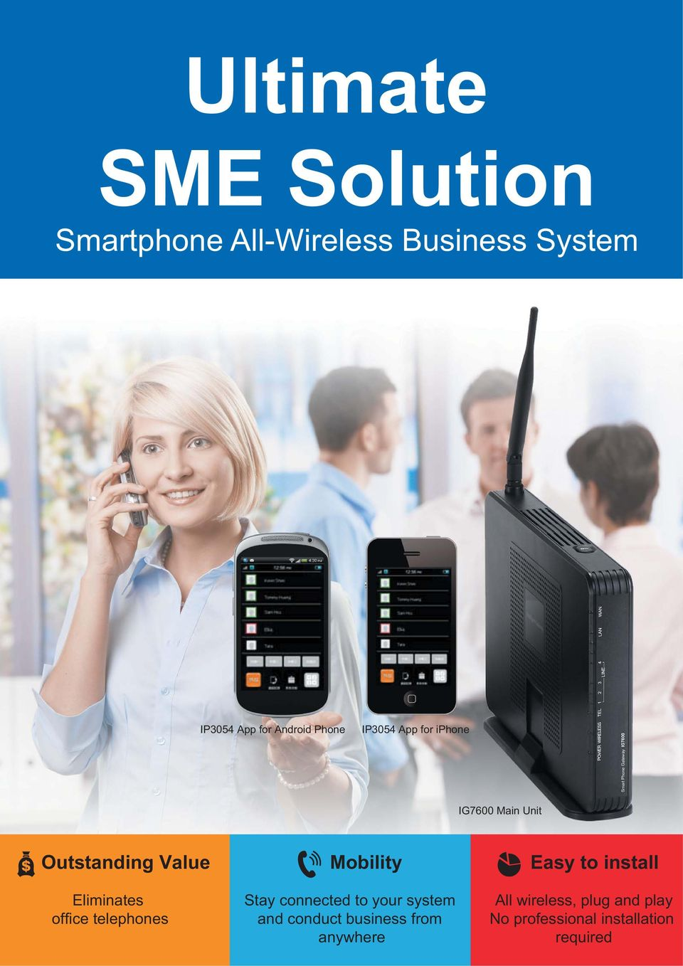 office telephones Mobility Stay connected to your system and conduct business from