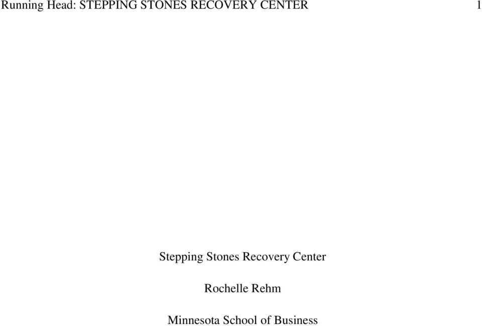 Stones Recovery Center