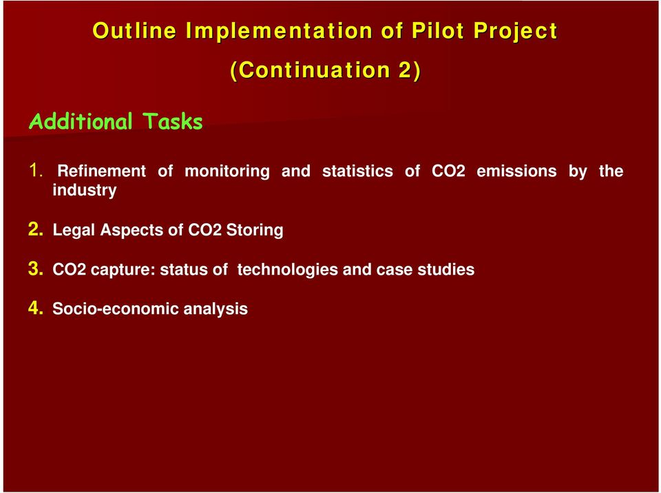 Refinement of monitoring and statistics of CO2 emissions by the
