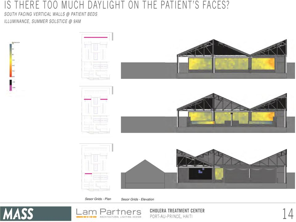 SOUTH FACING VERTICAL WALLS @ PATIENT BEDS