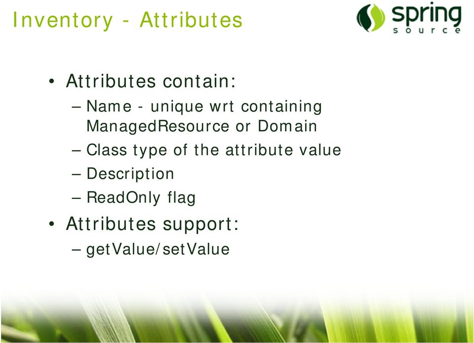 Domain Class type of the attribute value