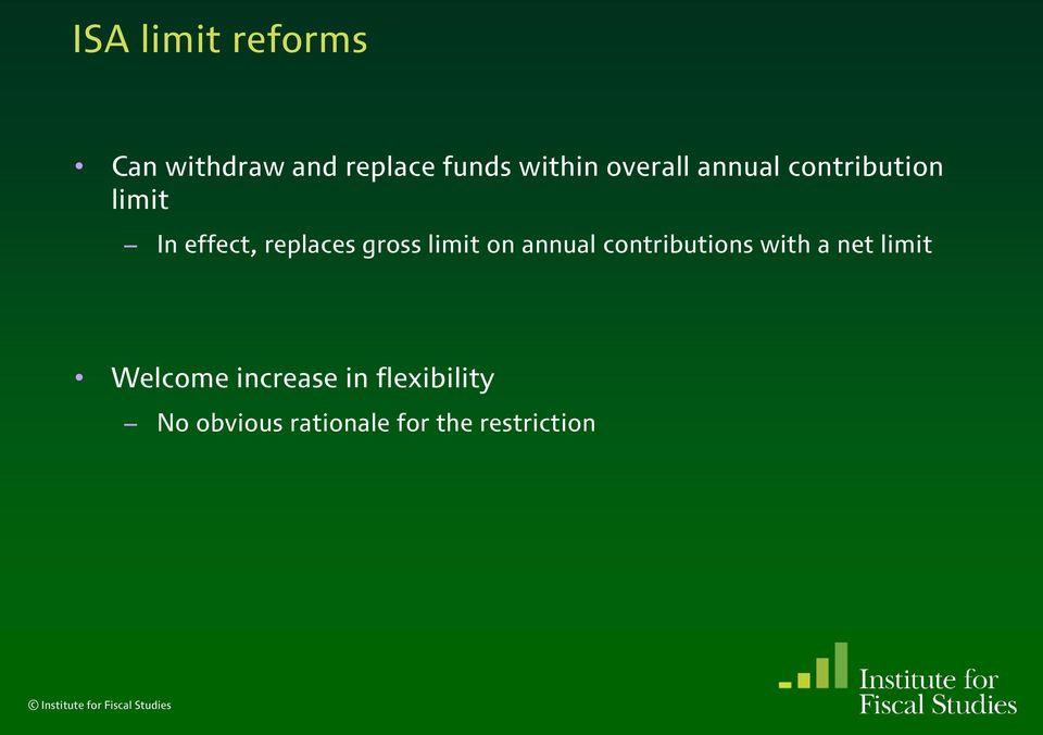 gross limit on annual contributions with a net limit