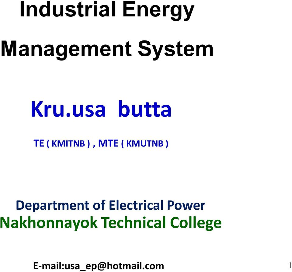 Department of Electrical Power