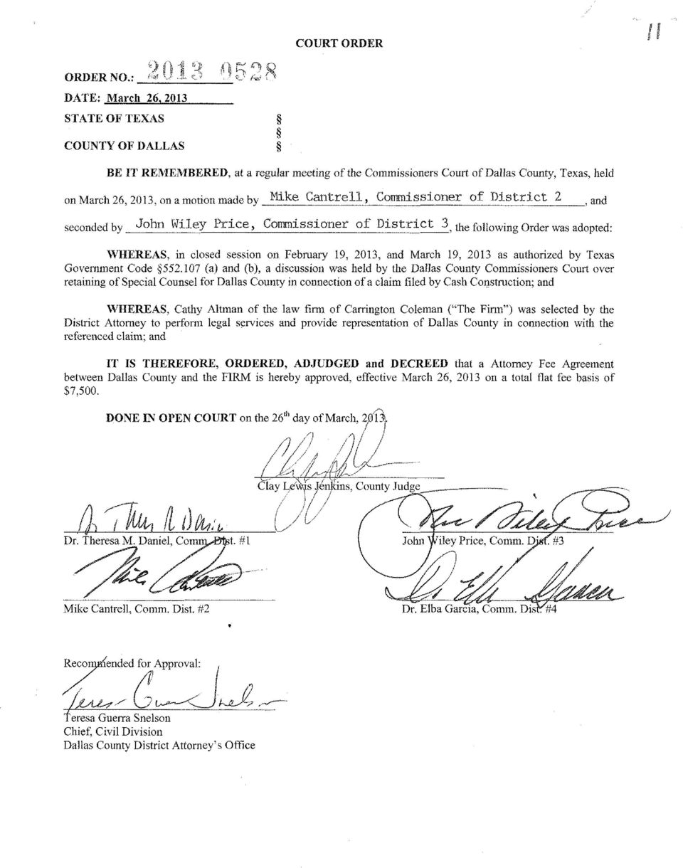 February 19, 2013, and March 19, 2013 as authorized by Texas Govemment Code 552.