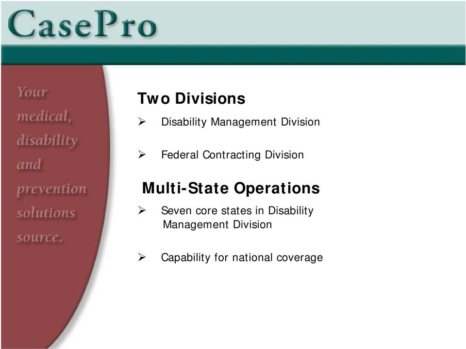 Operations Seven core states in Disability