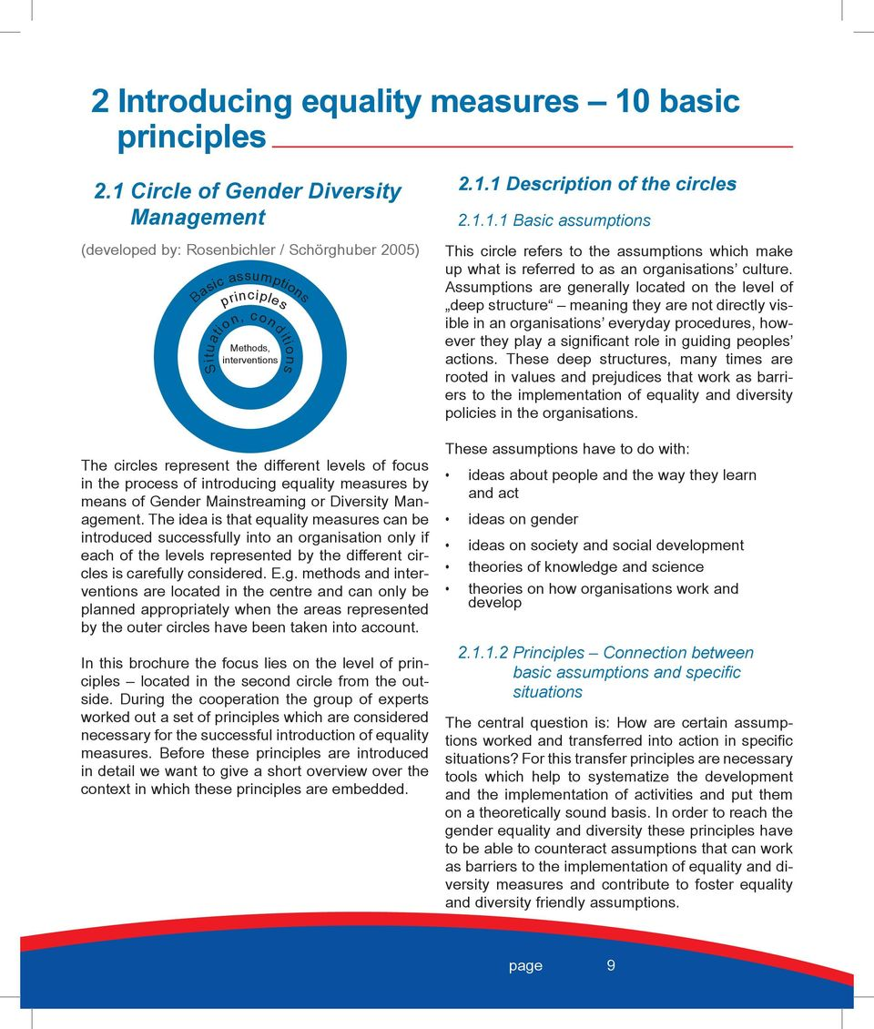 the process of introducing equality measures by means of Gender Mainstreaming or Diversity Management.