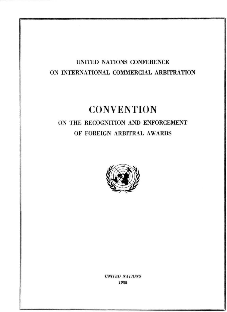 CONVENTION ON THE RECOGNITION AND
