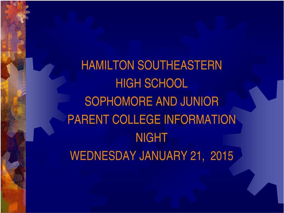 PARENT COLLEGE INFORMATION