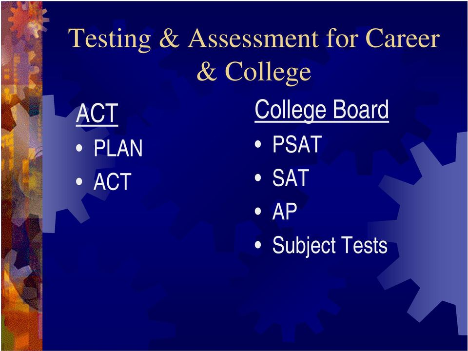 ACT PLAN ACT College