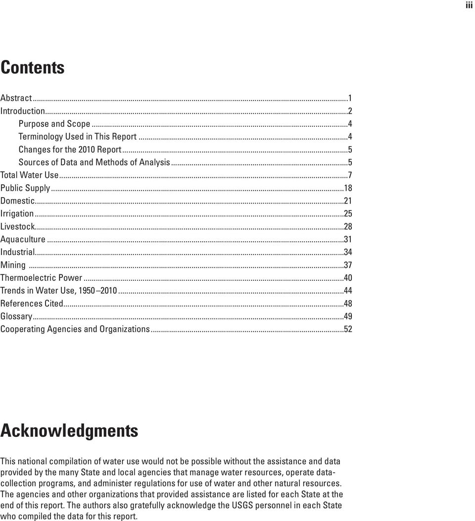 ..48 Glossary...49 Cooperating Agencies and Organizations.