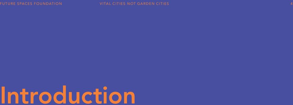 Cities not Garden