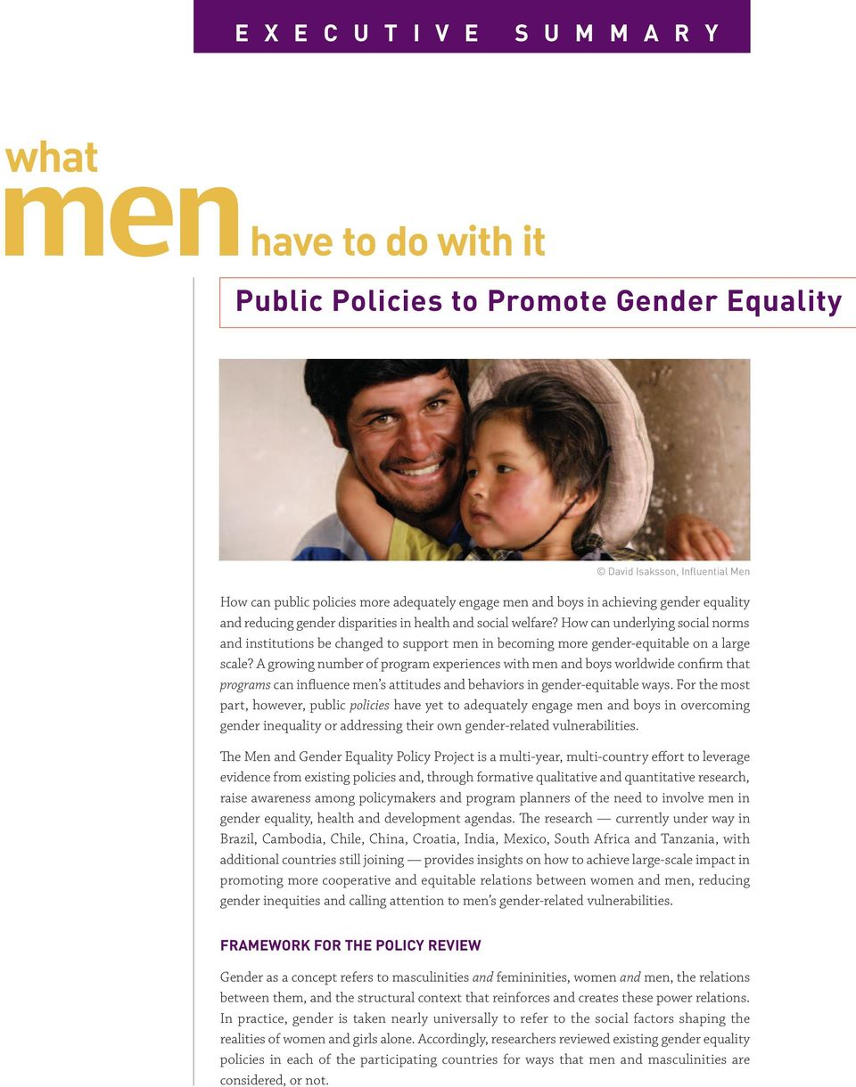 How can underlying social norms and institutions be changed to support men in becoming more gender-equitable on a large scale?