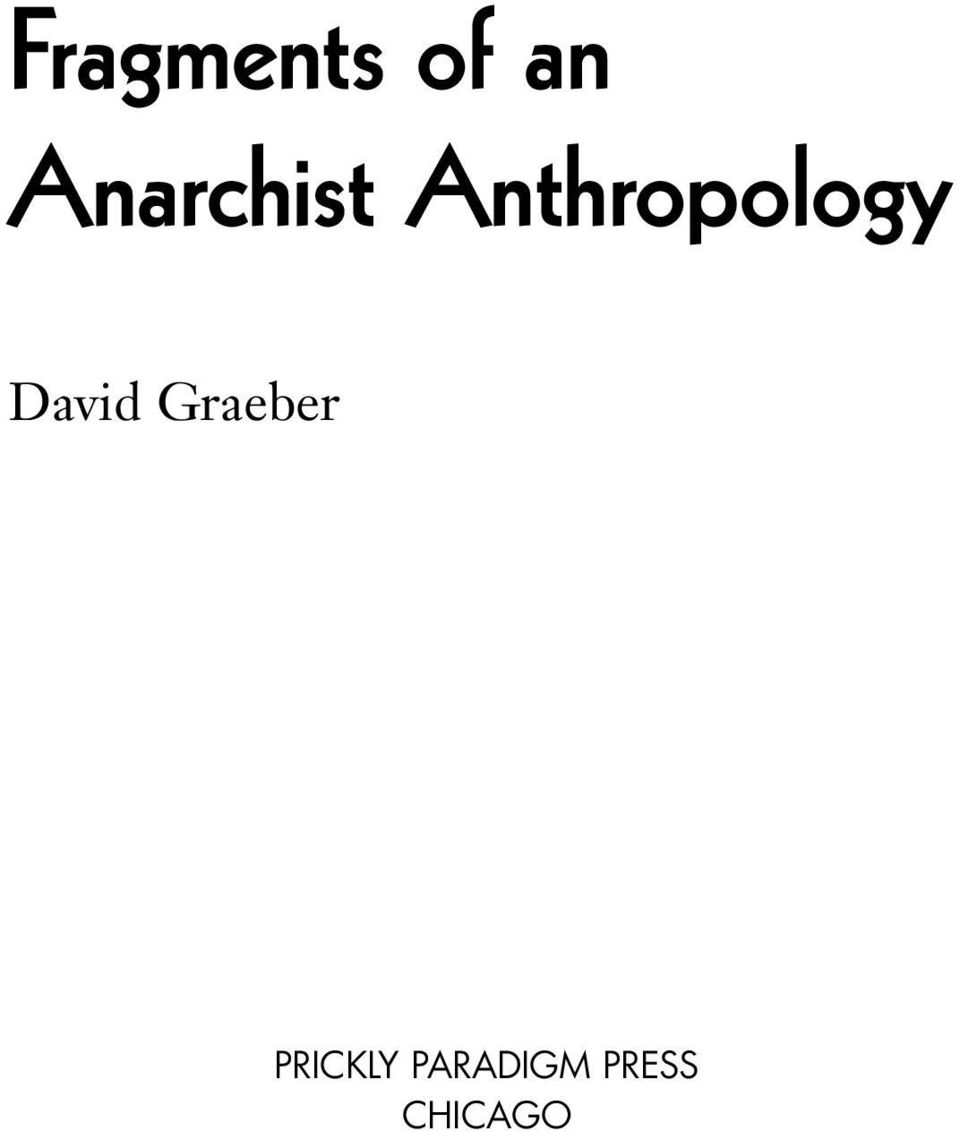 Anthropology David