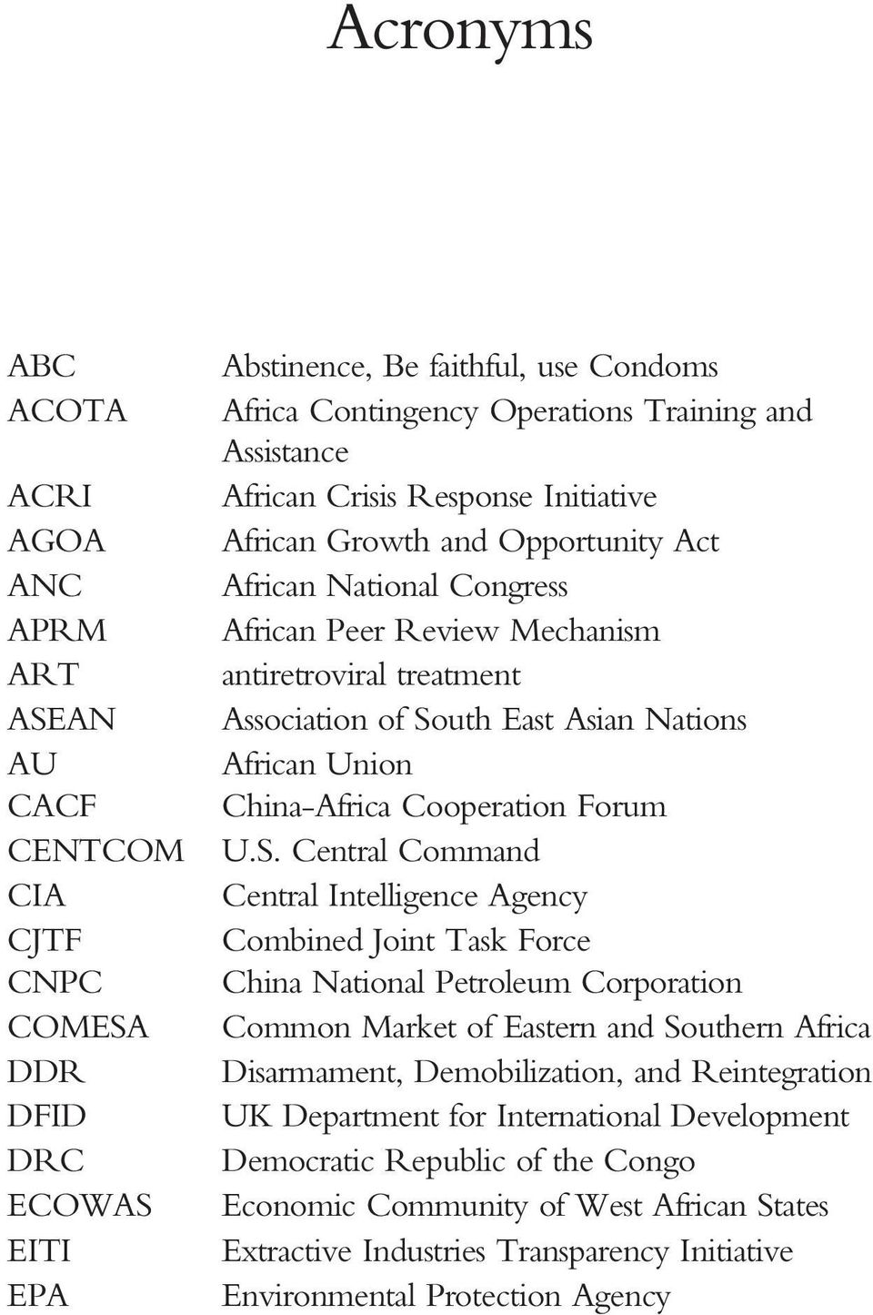 Nations African Union China-Africa Cooperation Forum U.S.