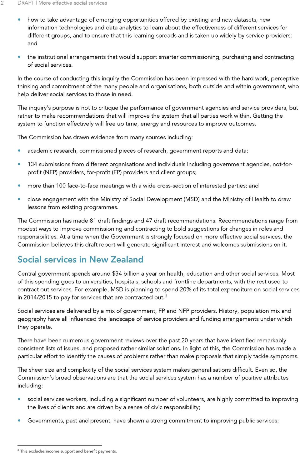 smarter commissioning, purchasing and contracting of social services.