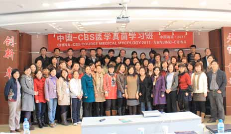 CBS Course Medical Mycology Chinese edition Mycology was organized in Nanjing, China, on 19 27 November 2011.