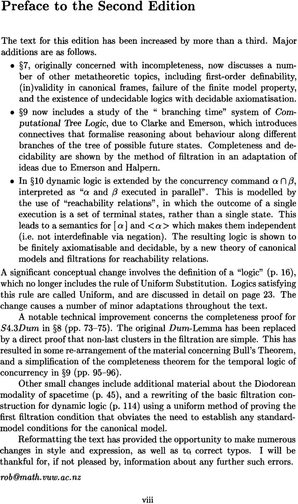 property, and the existence of undecidable logics with decidable axiomatisation.