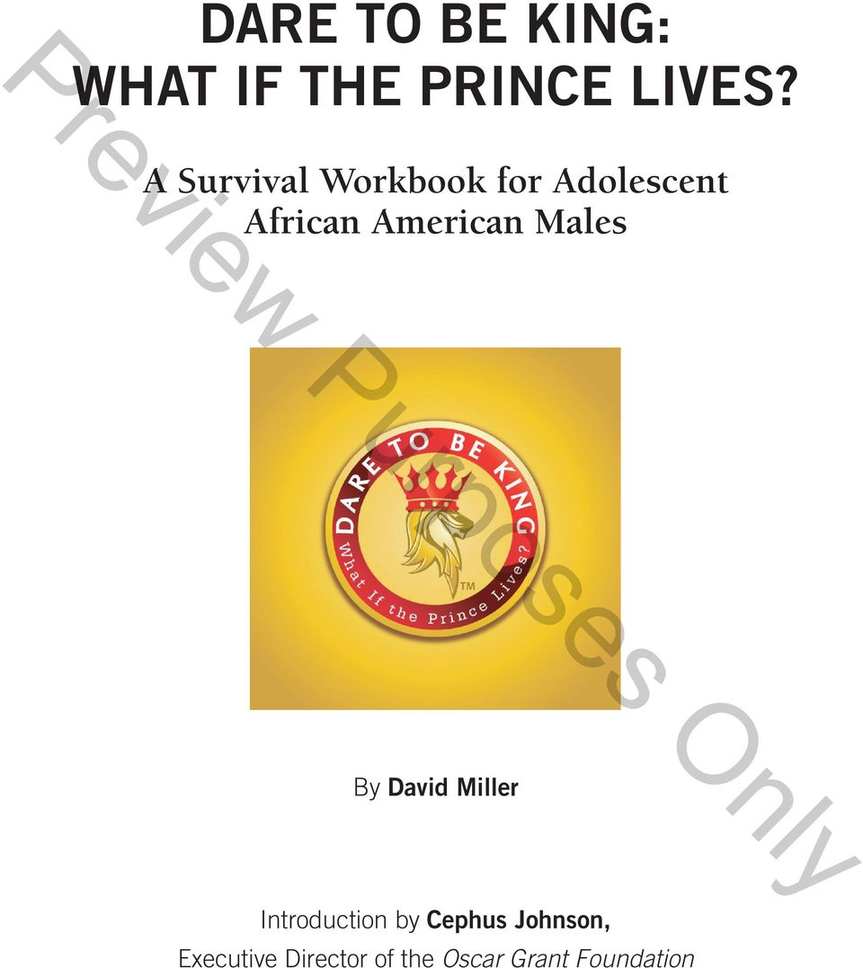 American Males By David Miller Introduction by