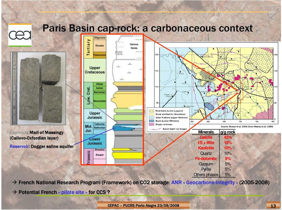 CO 2 storage: Caprock integrity and clay