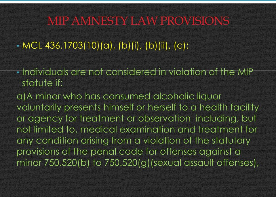 alcoholic liquor voluntarily presents himself or herself to a health facility or agency for treatment or observation including,