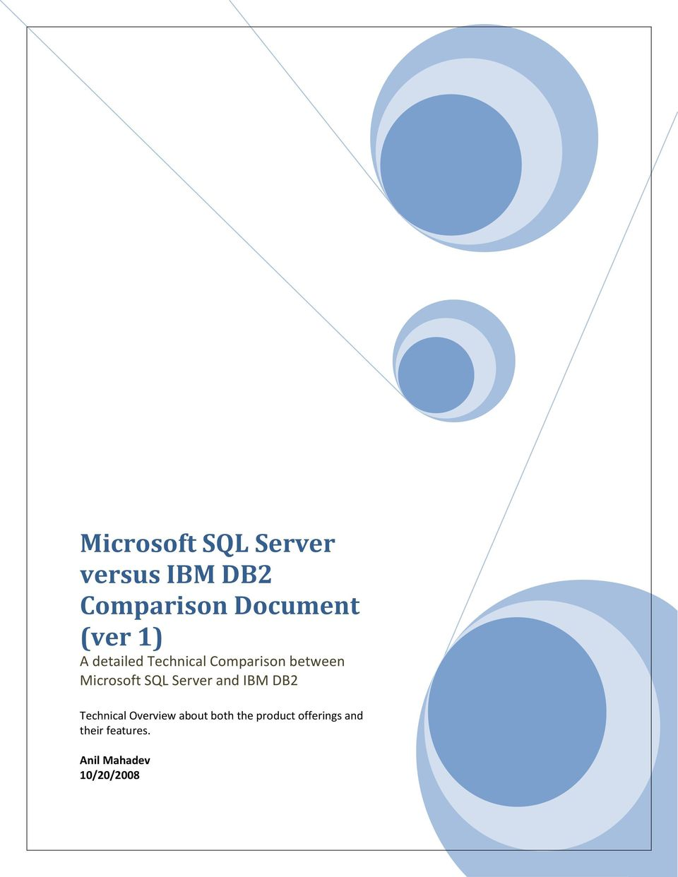 SQL Server and IBM DB2 Technical Overview about both the