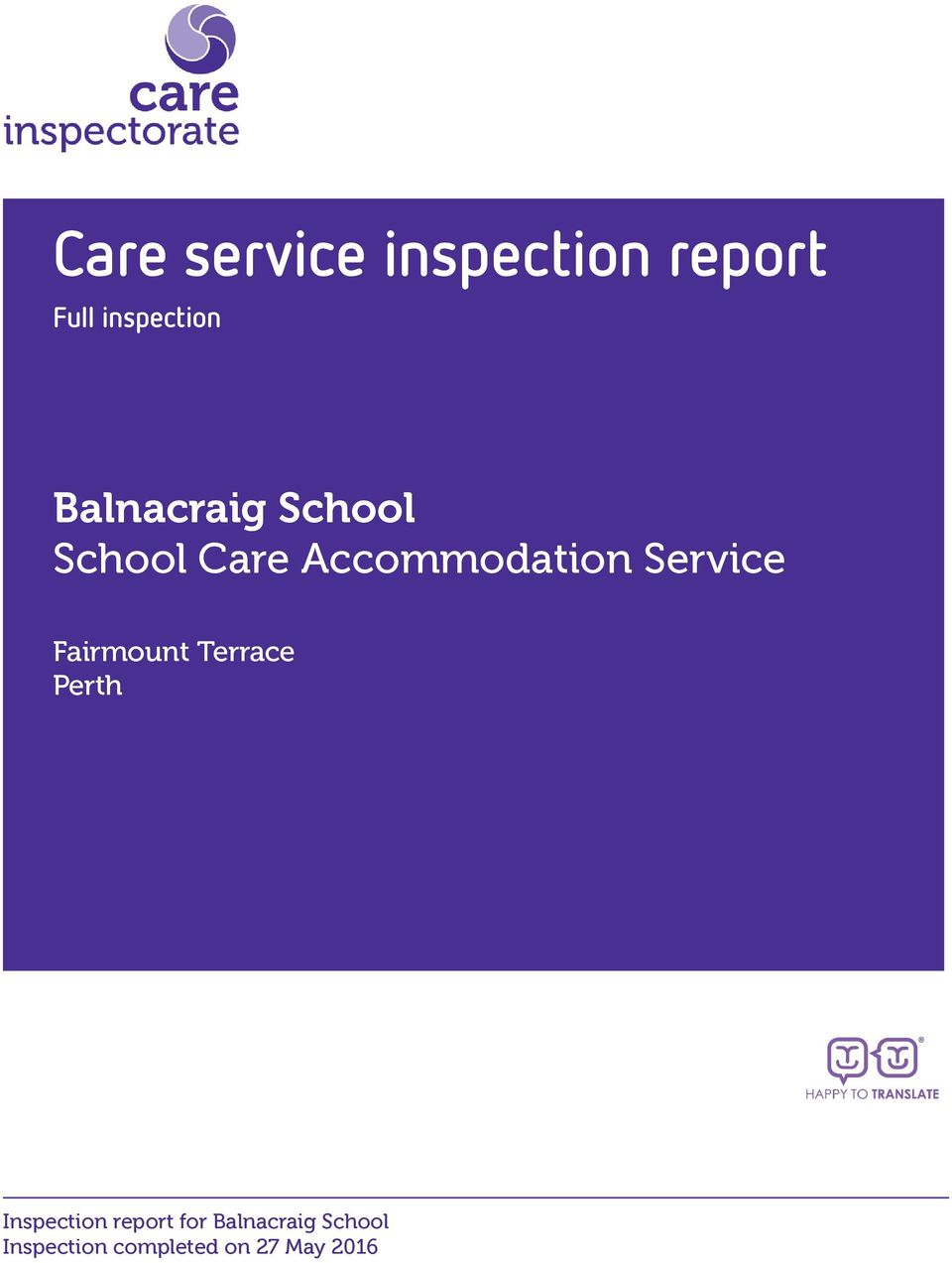 Care Accommodation Service Fairmount
