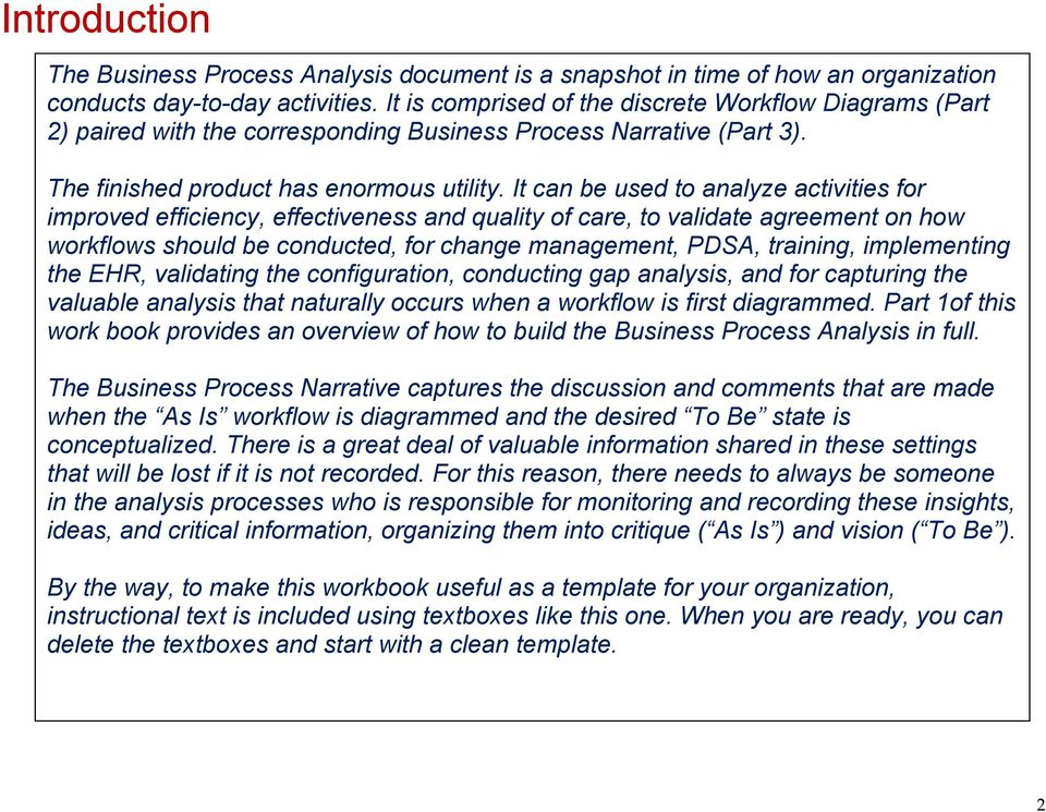 Business process analysis workbook part 1 of 3 foundation it can be used to analyze activities for improved efficiency effectiveness and quality of care 3 business process fbccfo Gallery