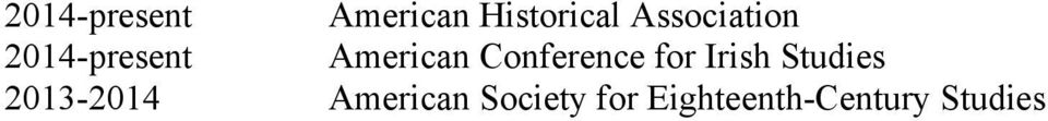 Conference for Irish Studies 2013-2014