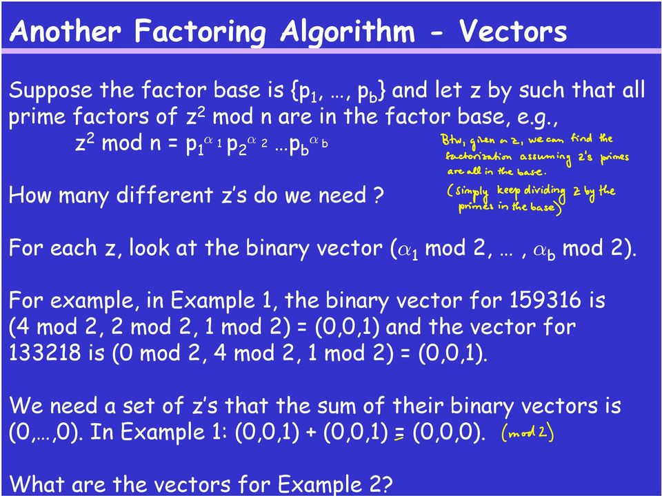 For example, in Example 1, the binary vector for 159316 is (4 mod 2, 2 mod 2, 1 mod 2) = (0,0,1) and the vector for 133218 is (0 mod 2, 4 mod 2, 1 mod