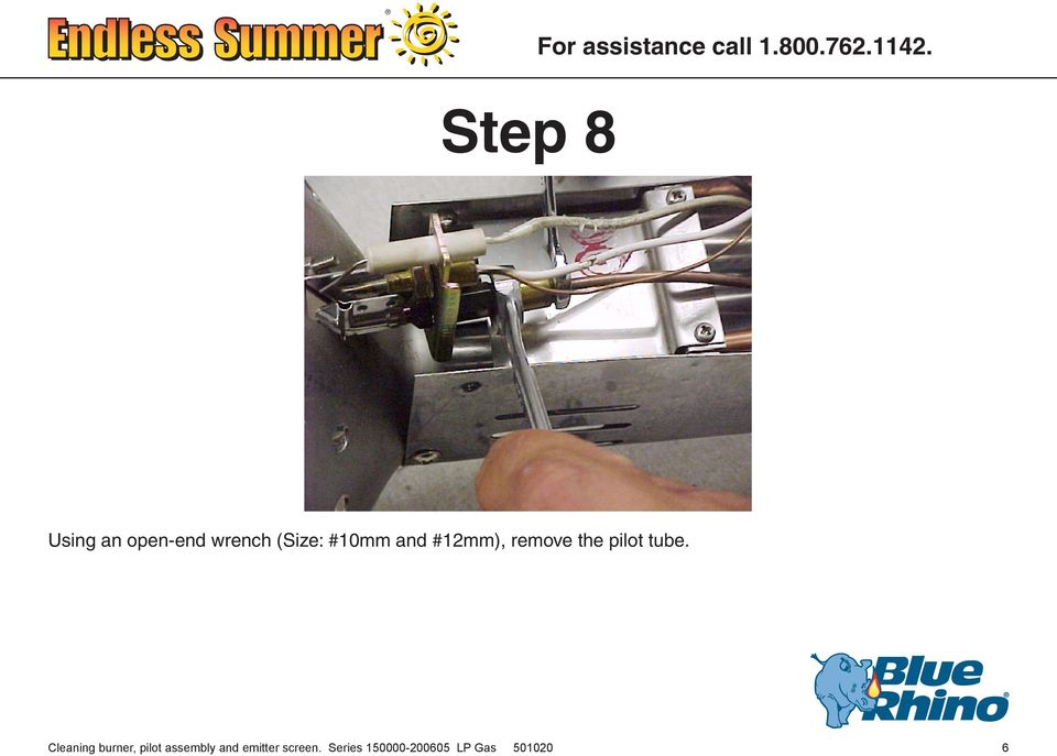 Cleaning burner, pilot assembly and