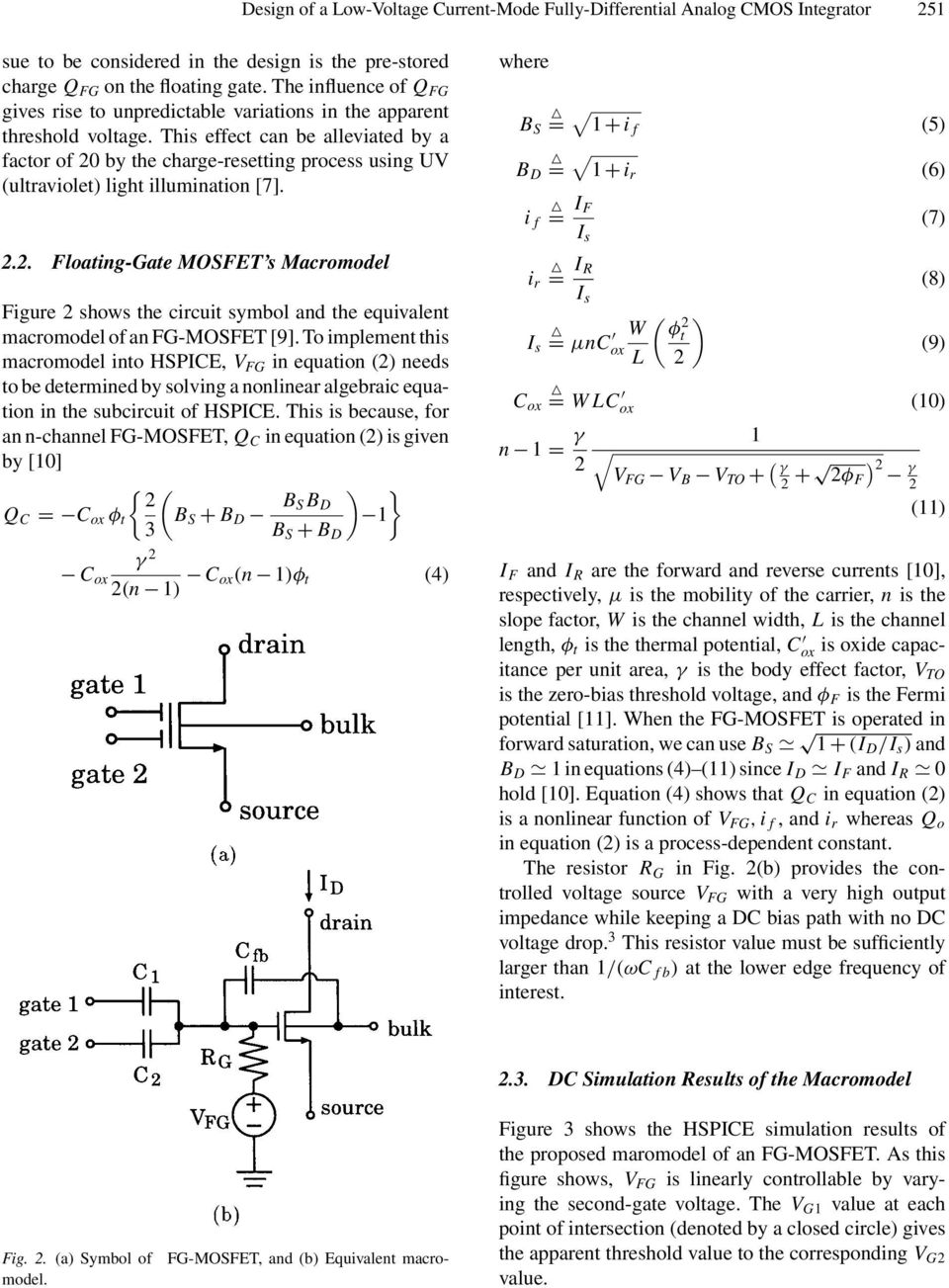 A Design Of Low Voltage Current Mode Fully Differential Analog Regulator Equivalent Circuit Analogcircuit Basiccircuit This Effect Can Be Alleviated By Factor 20 The Charge Resetting Process