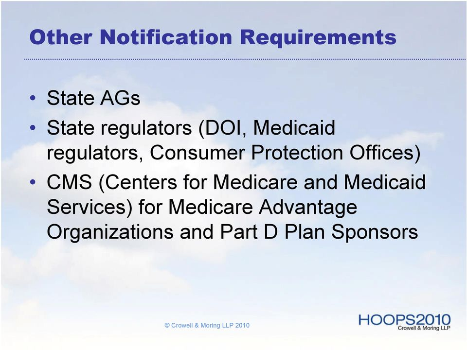 Protection Offices) CMS (Centers for Medicare and