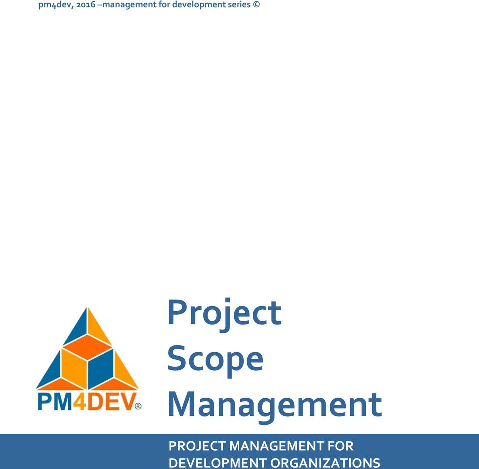 Scope Management PROJECT