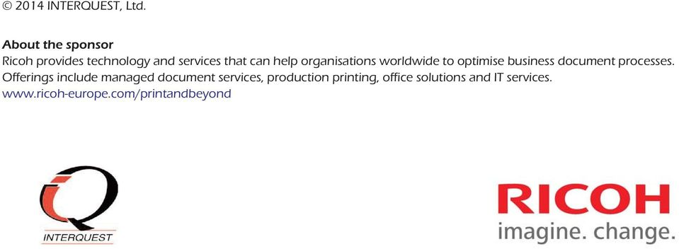 organisations worldwide to optimise business document processes.