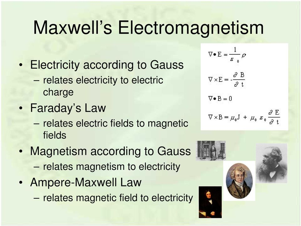 fields to magnetic fields Magnetism according to Gauss relates