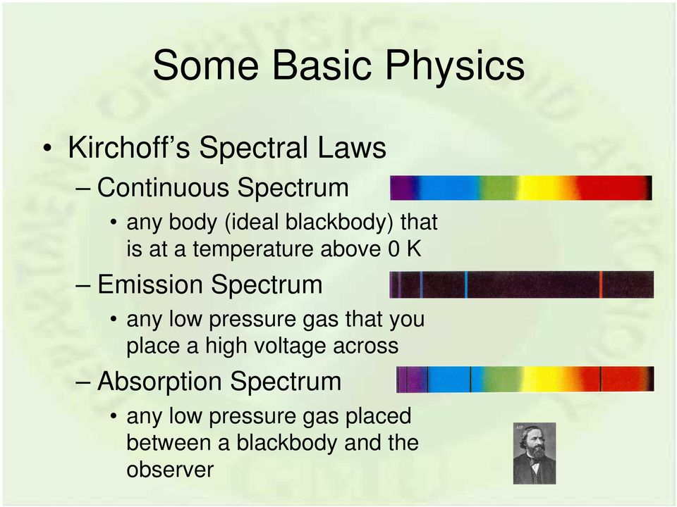 Spectrum any low pressure gas that you place a high voltage across