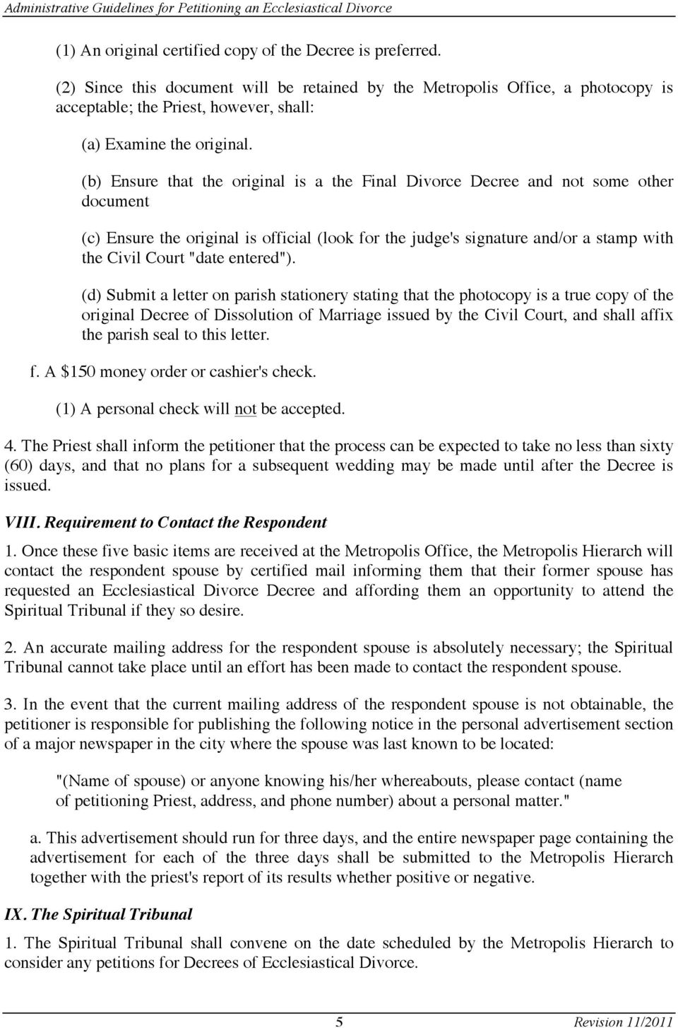 Administrative guidelines for submitting a petition for an b ensure that the original is a the final divorce decree and not some solutioingenieria Images