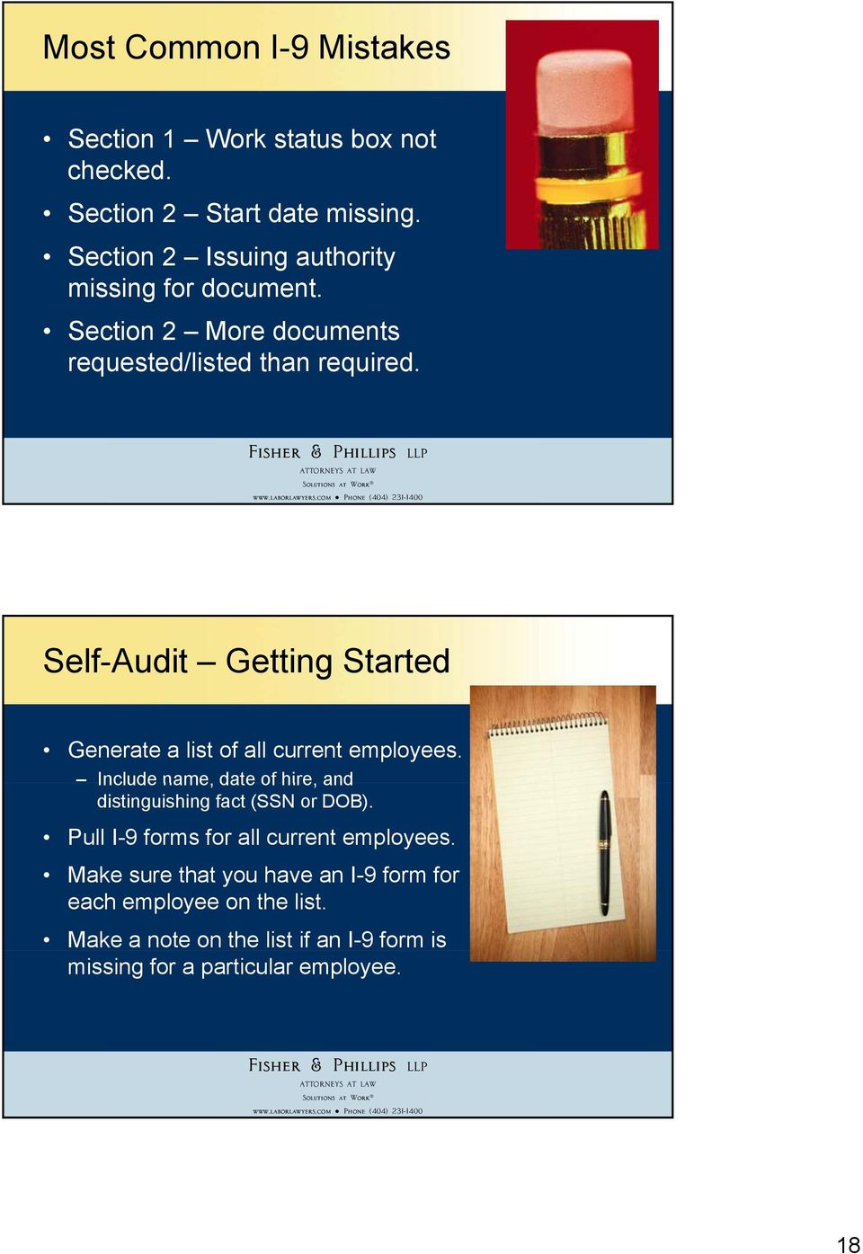 Self-Audit Getting Started Generate a list of all current employees.