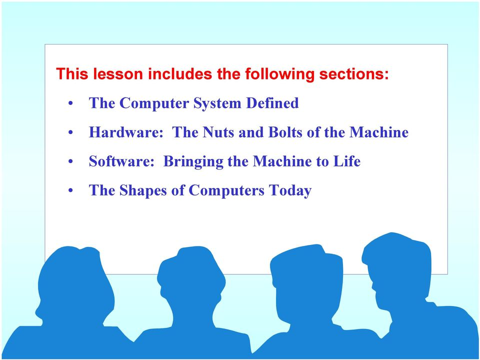 and Bolts of the Machine Software: Bringing