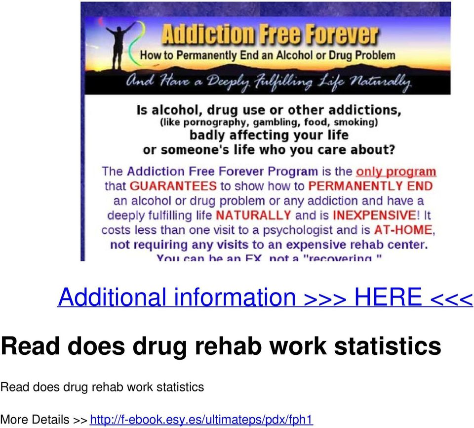 drug rehab work statistics More Details