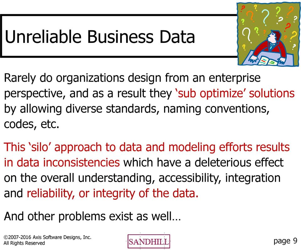 This silo approach to data and modeling efforts results in data inconsistencies which have a deleterious effect on